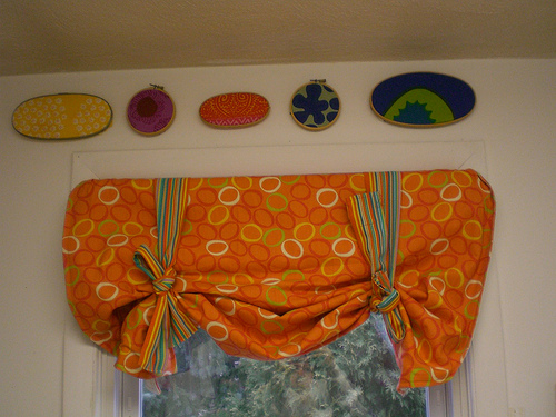 curtain in nursery