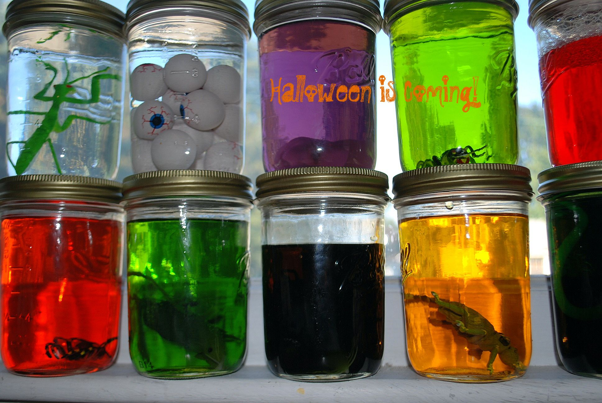 Crafts With Baby Food Jars For Halloween
